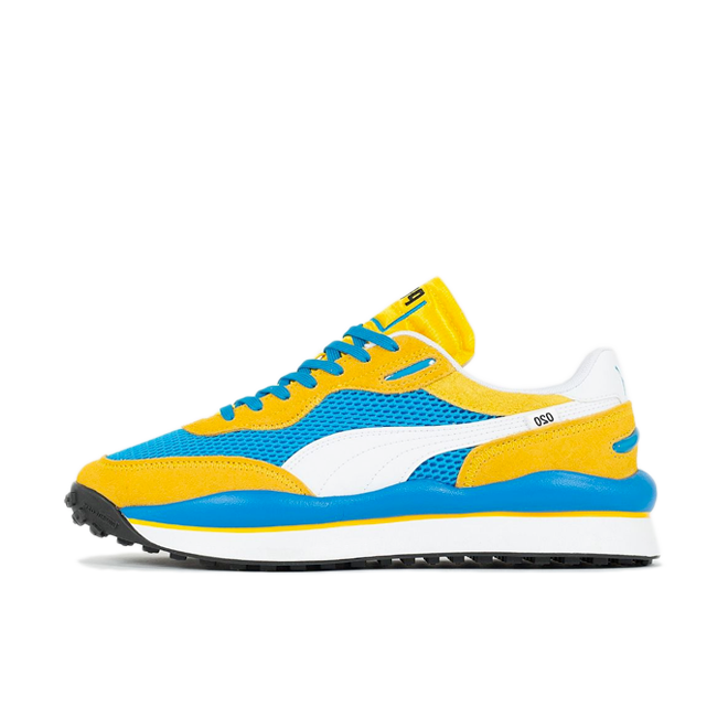 Puma Style Rider Stream On 'Yellow' zijaanzicht