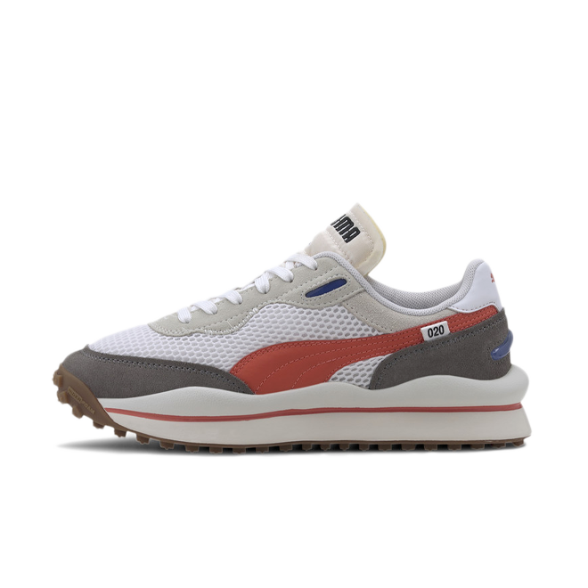 Puma Style Rider Stream On 'White/Red' zijaanzicht