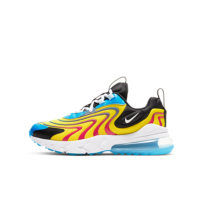 Nike Air Max 270 React Yellow Red Gs Cd6870 700 Sneakerjagers