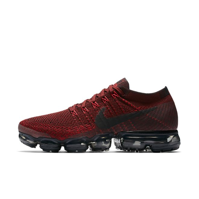 Nike Air VaporMax Flyknit Dark Team Red zijaanzicht