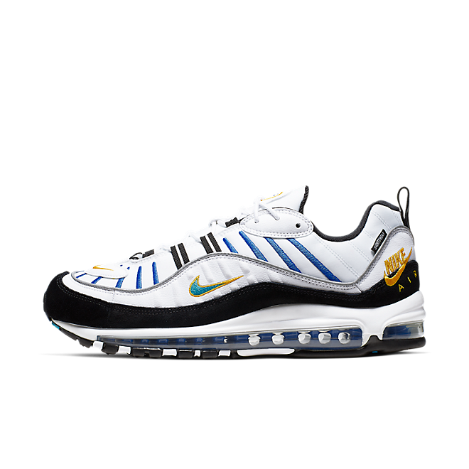 Nike Air Max 98 White Teal Nebula University Gold
