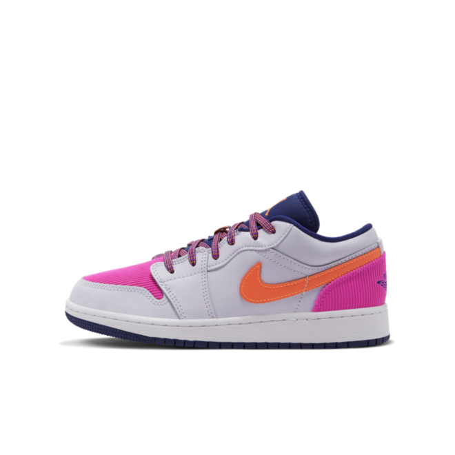 Jordan 1 Low GS Corduroy 'Pink'