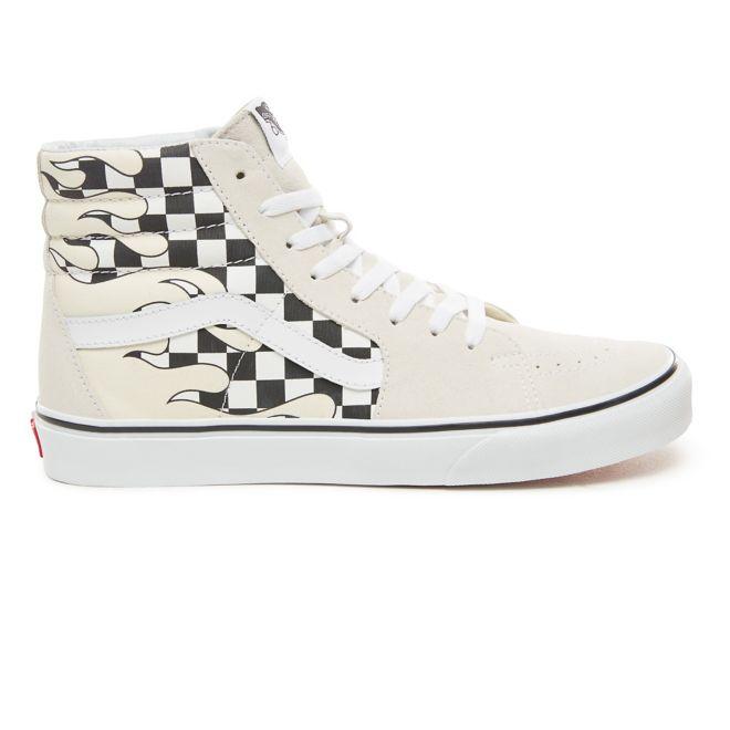 Vans Sk8-Hi Checkerboard Flame White