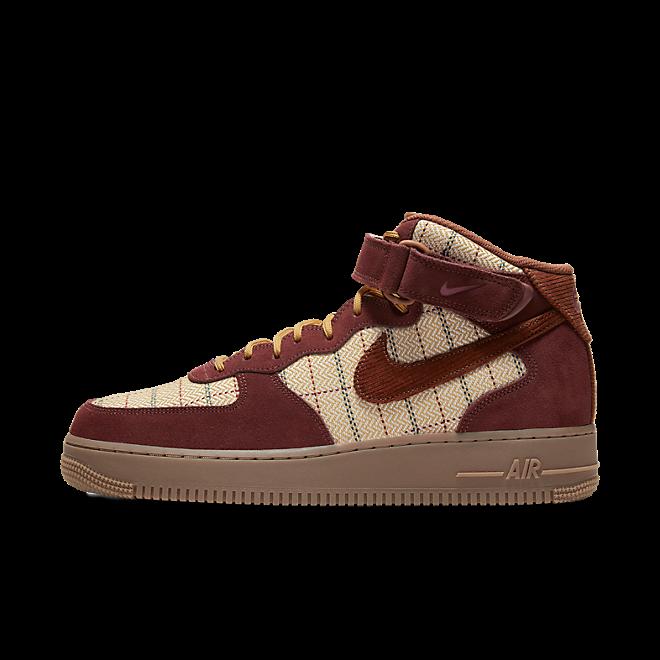Nike Air Force 1 Mid Plaid Brown