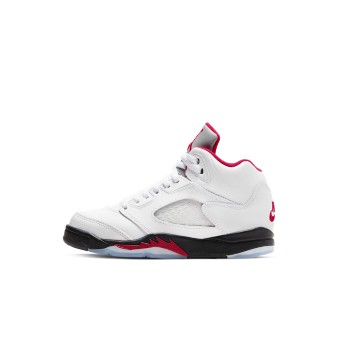 Air Jordan 5 Retro PS 'Fire Red' zijaanzicht