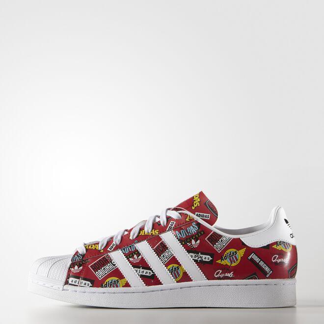 adidas Superstar Nigo Allover Print Red