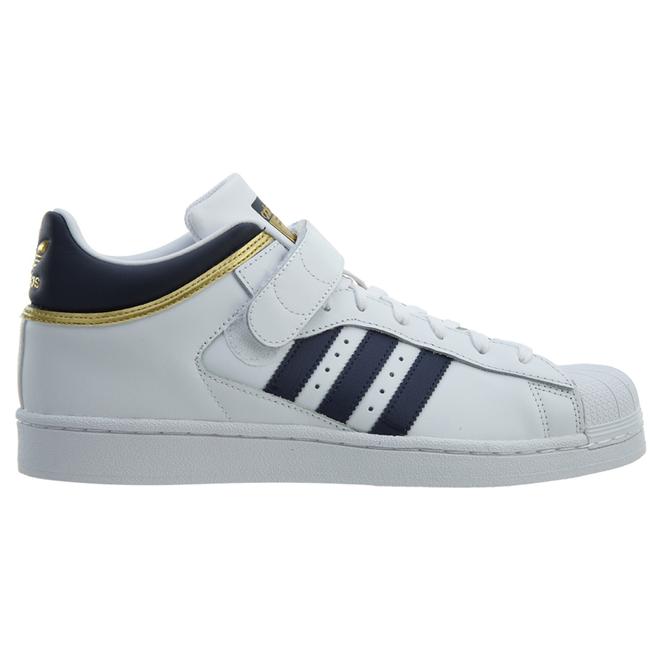 adidas Pro Shell White Navy-Gold Metallic