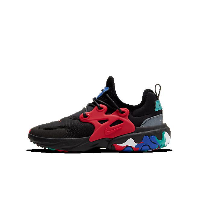 Nike React Presto Black Red Multicolor (GS)