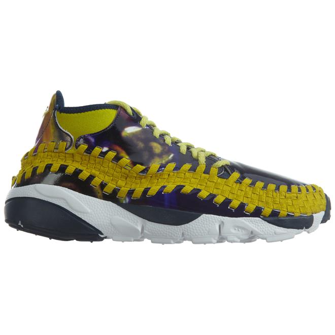 Nike Air Footscape Wvn Chk Yoth Qs Light Midnight Bright Citron