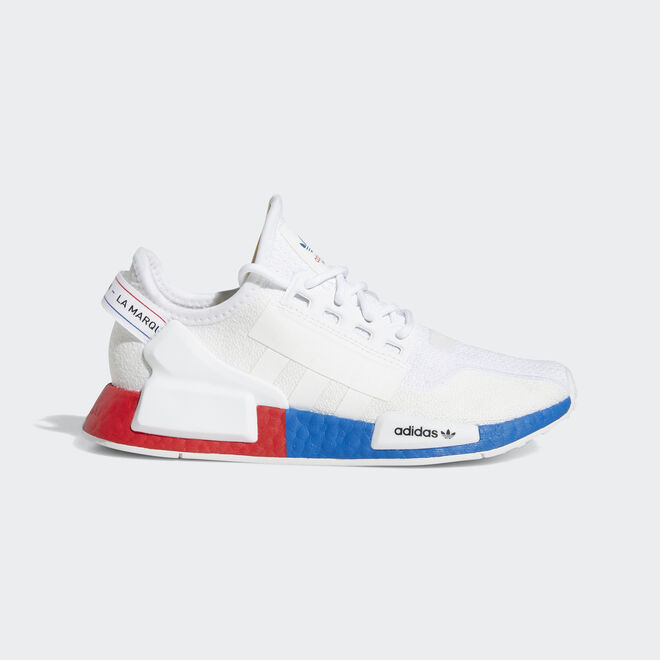 adidas NMD R1 V2 White Red Blue (GS) | FX4150 | Sneakerjagers