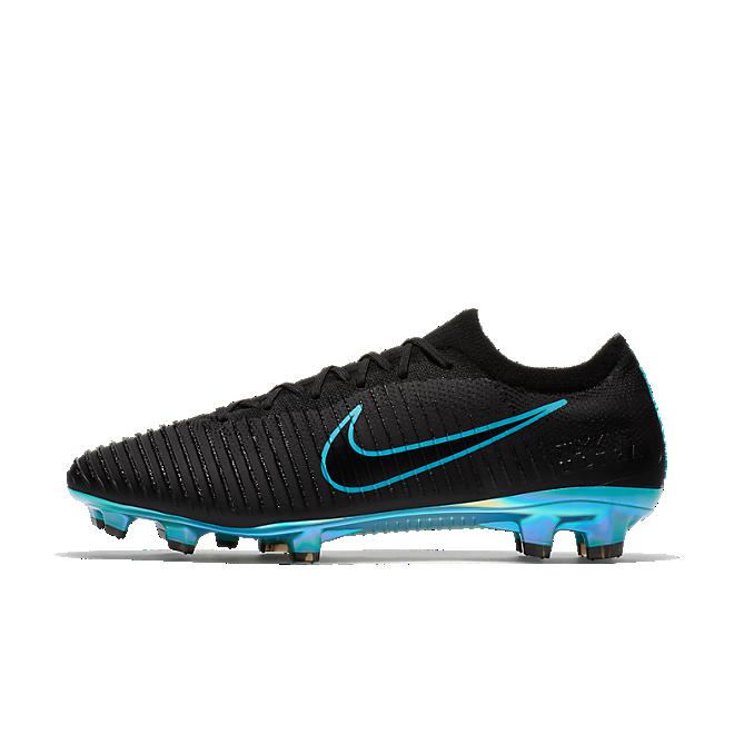 Nike Mercurial Vapor Flyknit Ultra FG Black Gamma Blue | AH5516 004 | Sneakerjagers
