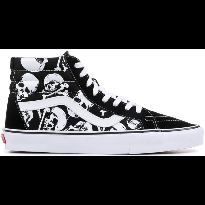 Vans Sk8-Hi Skulls Black White (2018)