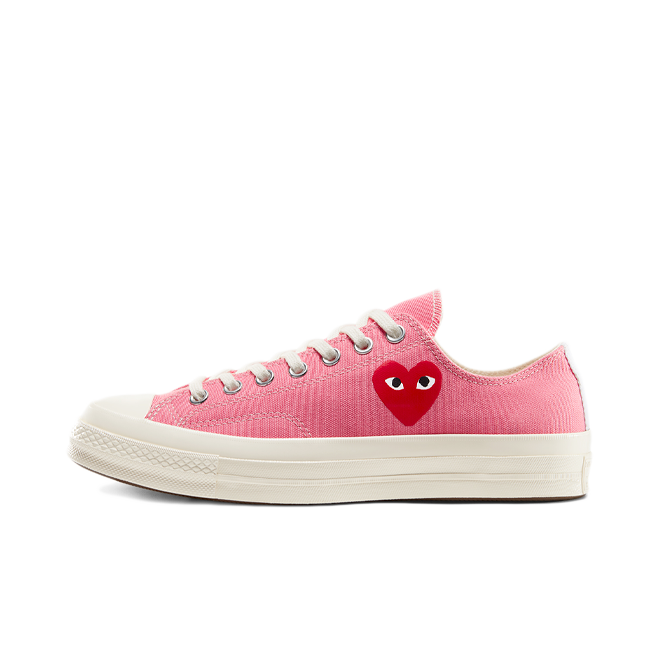 Comme des Garcons X Converse Chuck Taylor Low 'Bright Pink' zijaanzicht
