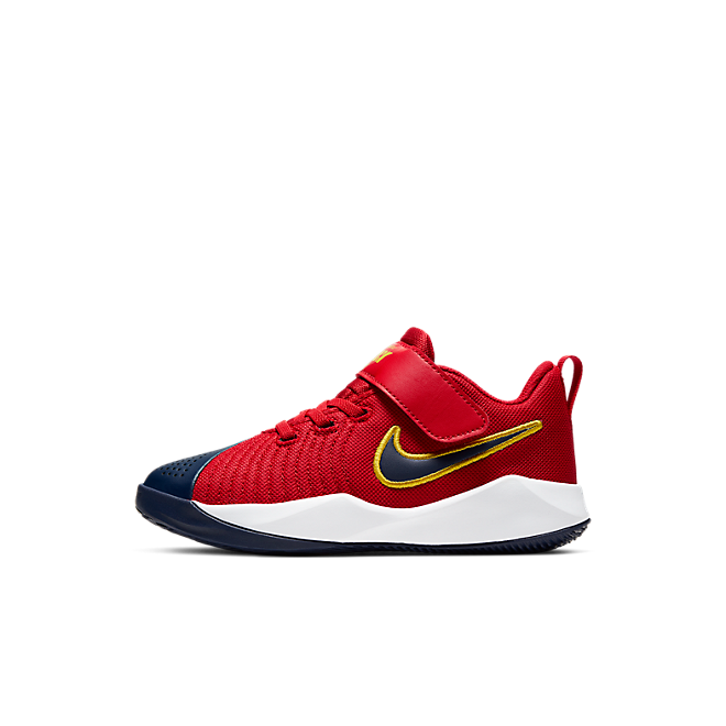 Nike Team Hustle Quick 9 University Red White (PS)