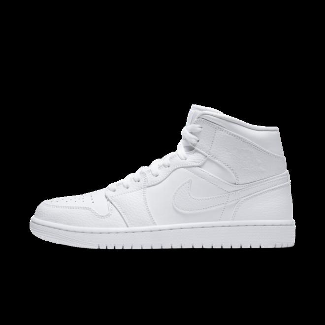Air Jordan 1 Mid 'Triple White' 554724-130