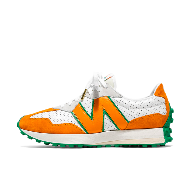 Casablanca X New Balance MS327CBB 'Orange' zijaanzicht