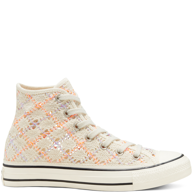 Boho Crochet Chuck Taylor All Star High Top voor dames