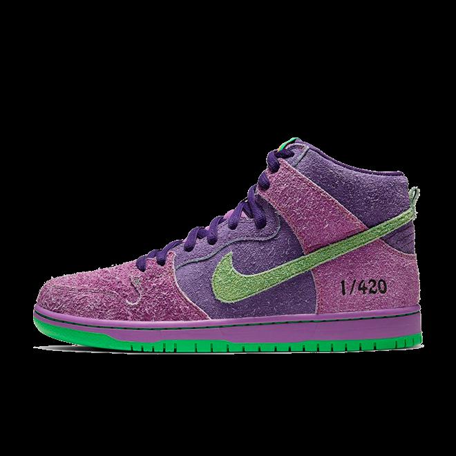 Nike SB Dunk High 420 'Purple Skunk'