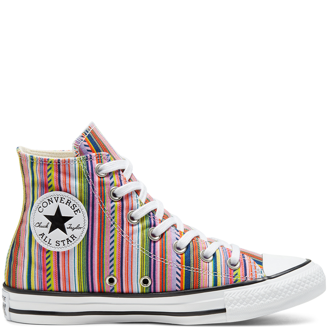 Unisex Summer Stripes Chuck Taylor All Star High Top
