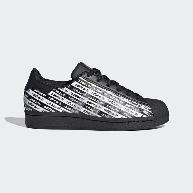 Damen Sneaker Superstar J Core Black White