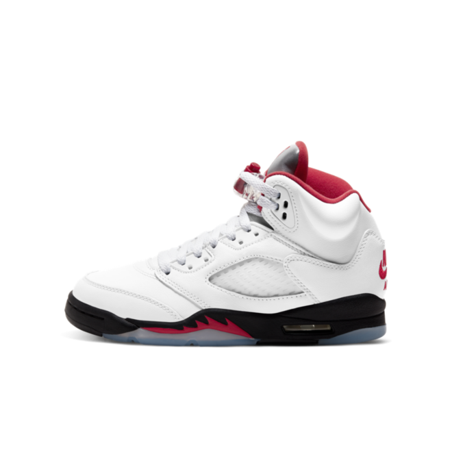 Air Jordan 5 Retro GS 'Fire Red' zijaanzicht
