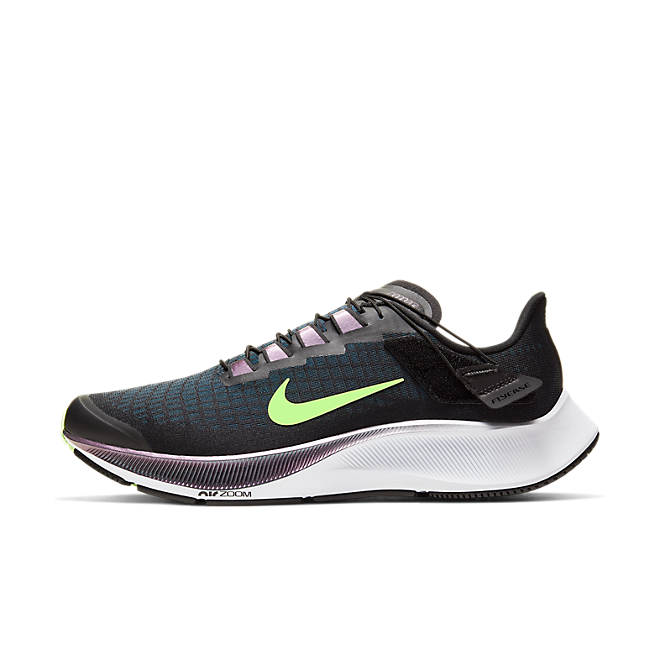 Nike Air Zoom Pegasus 37 Flyease Black Valerian Blue Ghost Green