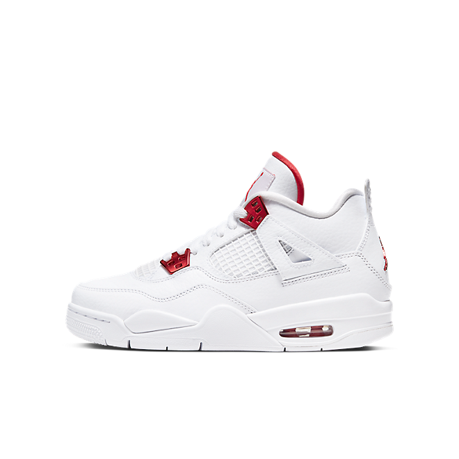 Jordan 4 Retro GS 'Metallic Red' zijaanzicht