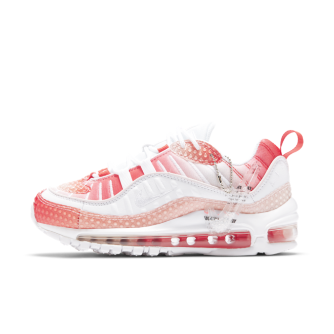 Nike Air Max 98 Bubble Pack 'Track Red' zijaanzicht
