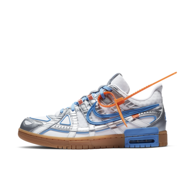 Off-White X Nike Rubber Dunk 'University Blue' zijaanzicht