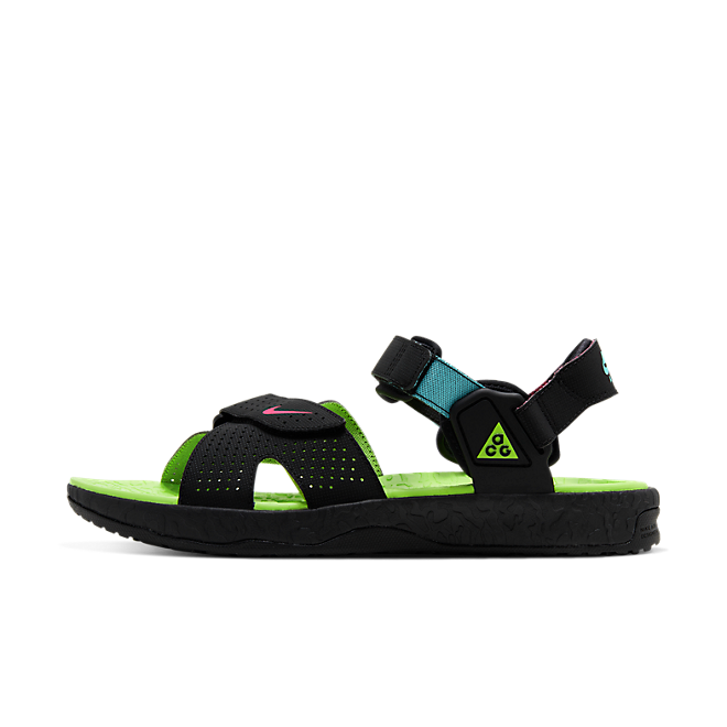 Nike ACG Air Deschutz Black Electric Green zijaanzicht