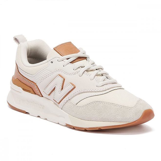 New Balance 997H Mens White / Tan Trainers