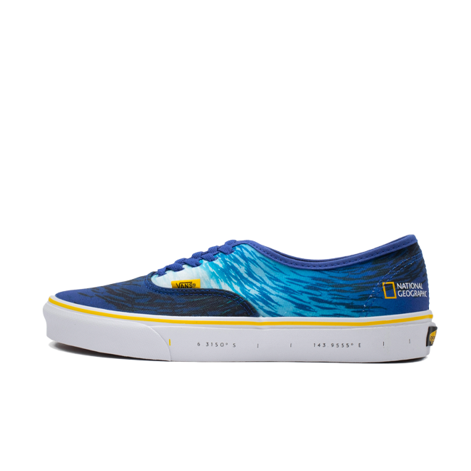 National Geographic X Vans Authentic 'Ocean' zijaanzicht