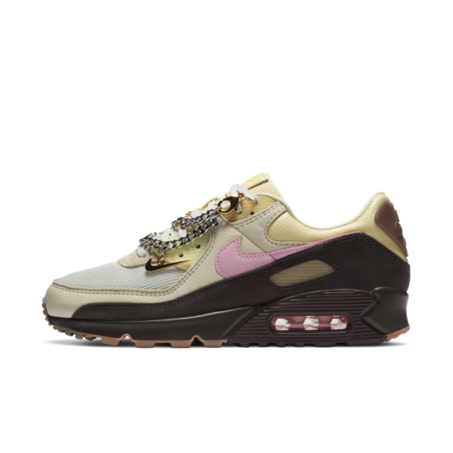 Nike WMNS Air Max 90 'Velvet Brown' zijaanzicht