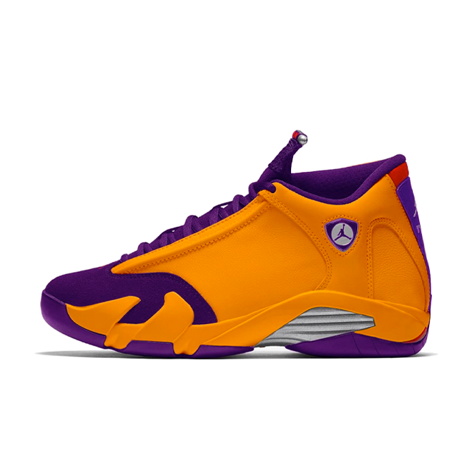 Air Jordan 14 Retro 'University Gold' zijaanzicht