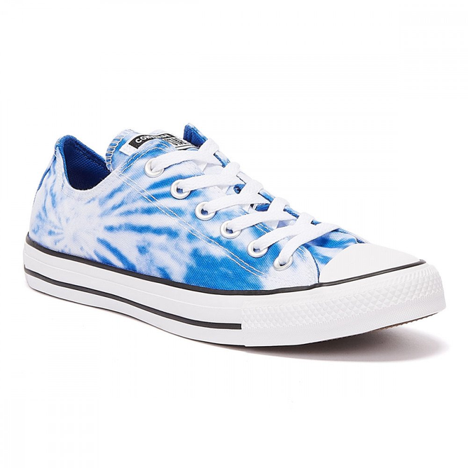 Converse All Star Tie Dye Ox Mens White / Blue Trainers