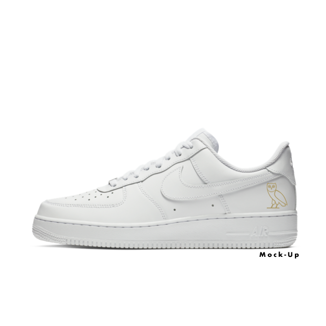 Drake OVO X Nike Air Force 1 zijaanzicht
