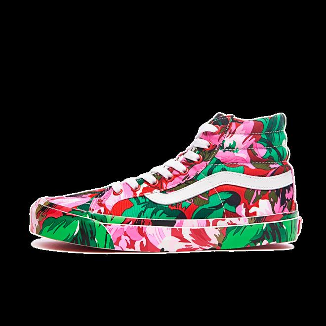 Kenzo X Vans UA SK8-Hi LX 'Floral Red' VN0A4BVB02G