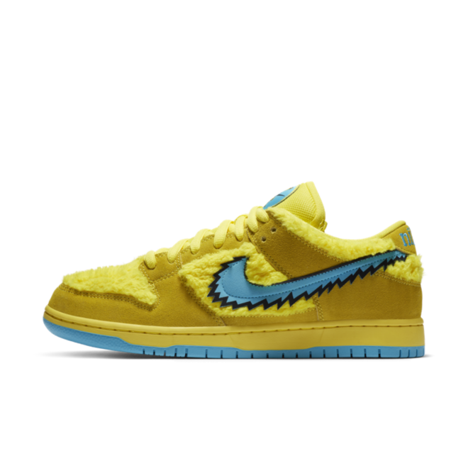 The Grateful Death X Nike SB Dunk Low 'Yellow Bear' zijaanzicht