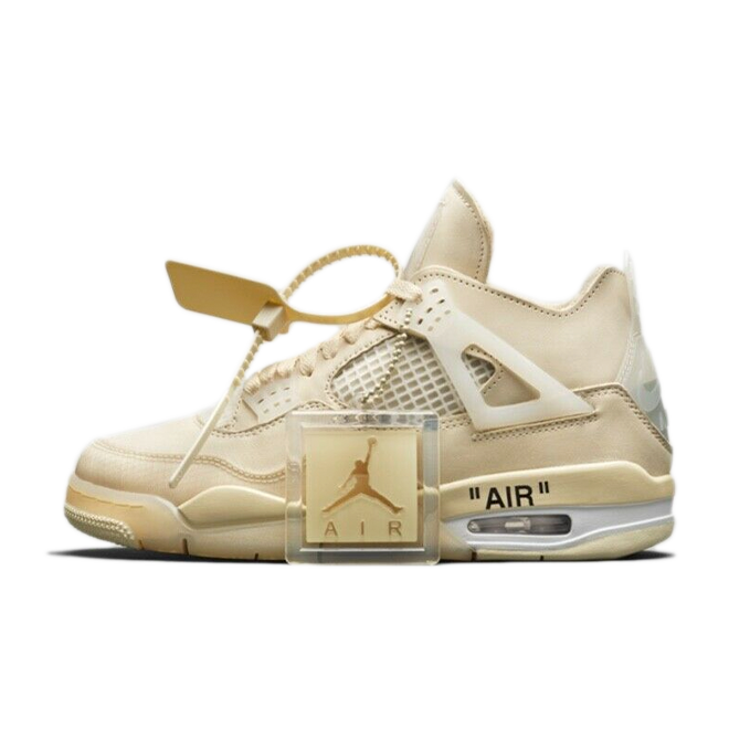 Off-White X Air Jordan 4 SP WMNS 'Sail' zijaanzicht