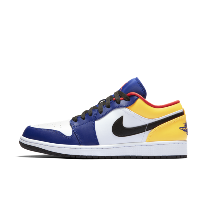 Air Jordan 1 Low 'Yellow/Blue' zijaanzicht