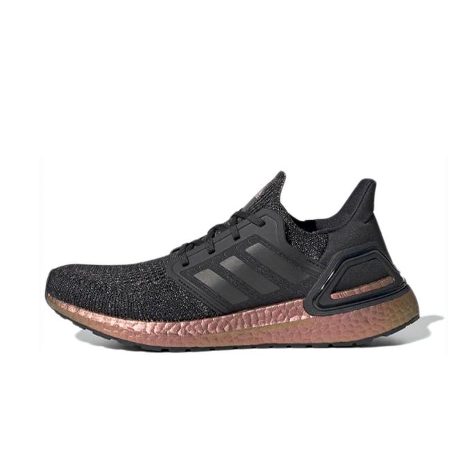 adidas Ultraboost 20 'Black/Signal Pink' zijaanzicht