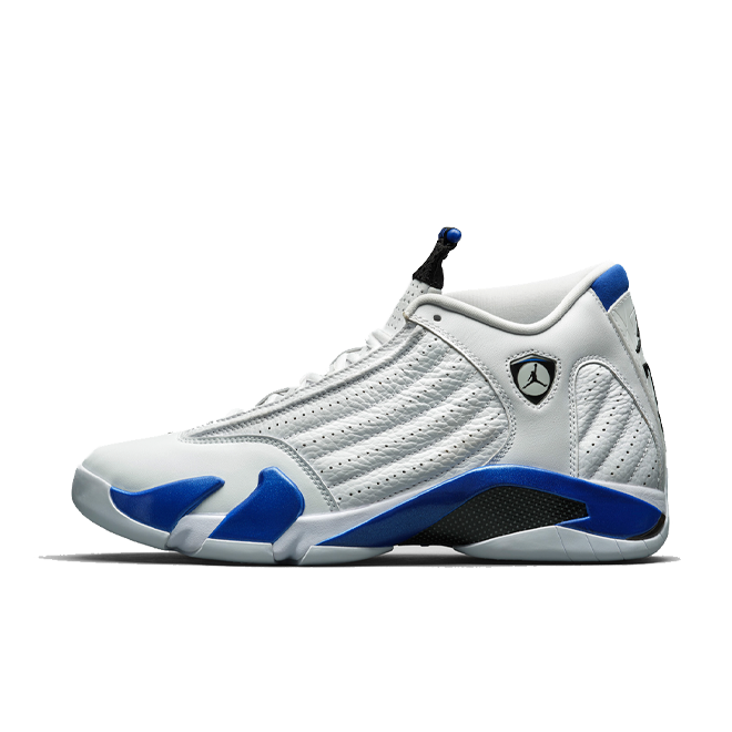 Air Jordan 14 Retro 'Hyper Royal' zijaanzicht