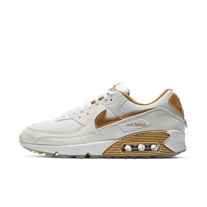 Nike Air Max 90 Worldwide Pack - Gold zijaanzicht