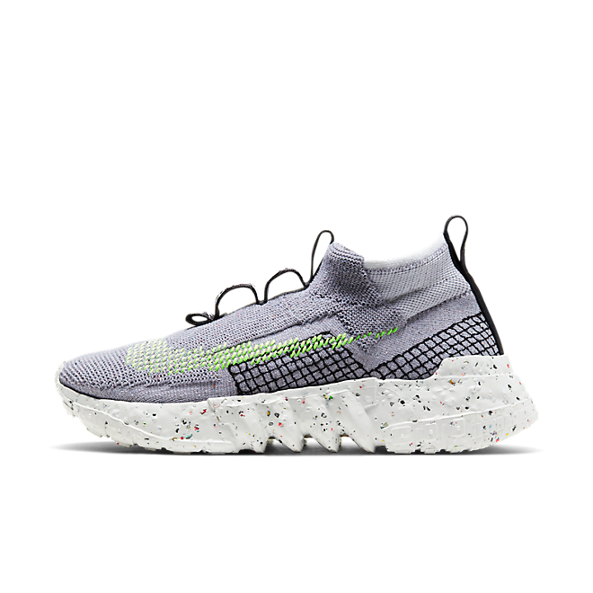 Nike Space Hippie 02 'Grey/Volt' zijaanzicht