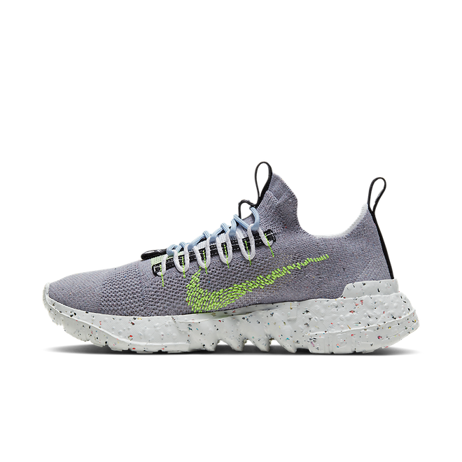 Nike Space Hippie 01 'Grey/Volt' zijaanzicht