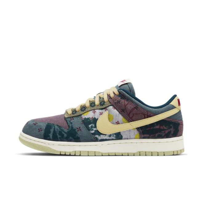 Nike SB Dunk Low SP 'Lemon Wash' zijaanzicht