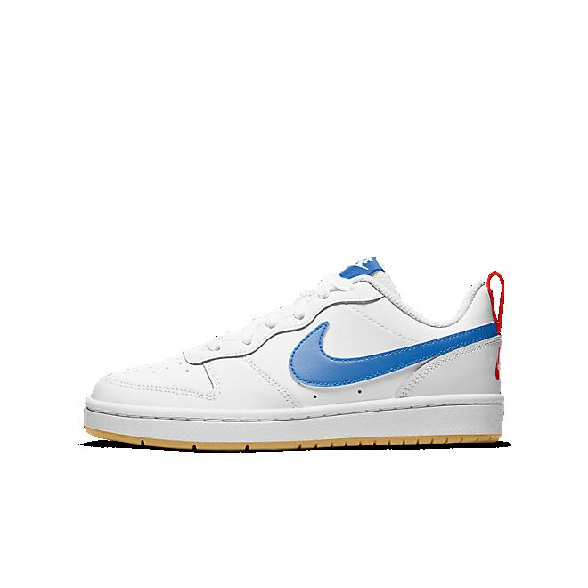 Nike Court Borough Laag 2 Wit Royal Gum