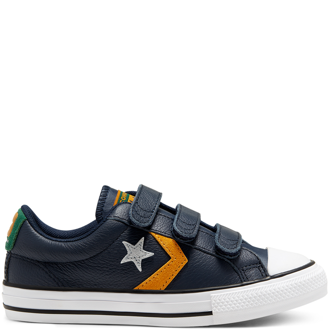 Big Kids Leather Twist Easy-On Star Player Low Top