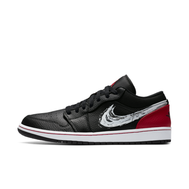 Air Jordan 1 Brushstroke Swoosh 'Black' DA4659-001