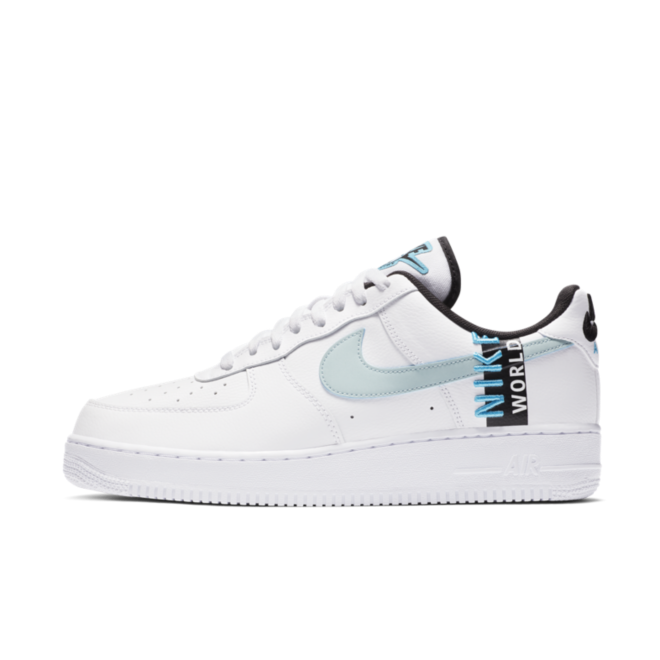Nike Air Force 1 Worldwide Pack - White & Blue zijaanzicht
